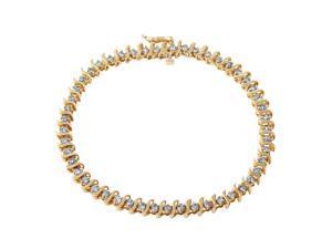 Ladies 2CTW Diamond 10K Yellow Gold Bracelet