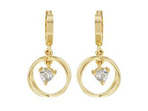 Ladies 14K Yellow Gold Earrings With Cubic Zirconia