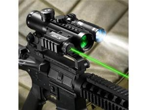 4x30 IR Electro Sight With Green Laser and 140 LUM Flashlight COMBO
