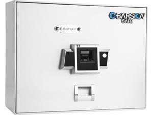 Barska AX12402 Top Opening Biometric Safe BX-200 - White