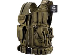 Loaded Gear VX-200 Tactical Vest, Right Hand (OD Green)