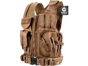 Loaded Gear VX-200 Tactical Vest, Right Hand (Dark Earth)