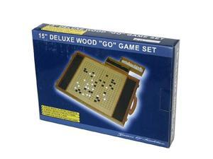 Deluxe 15 Wood Go Game Set