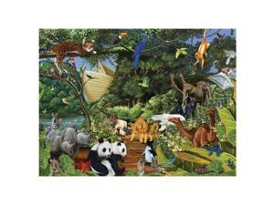 Family Varying Piece Size Puzzle - Noah's Gathering: 400 Pcs