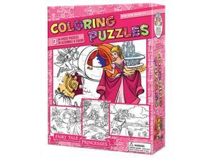 Coloring Fairy Tale Princesses 3 Pack 24 Piece Puzzle by Outset Media