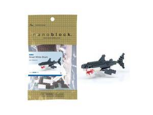 nanoblock Animals Level 3 - Great White Shark: 130 Pcs