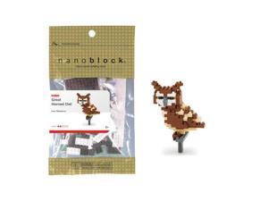 nanoblock Animals Level 2 - Great Horned Owl: 140 Pcs
