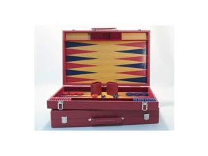 20 Burgundy and Blue Wood Tournament Attache Backgammon