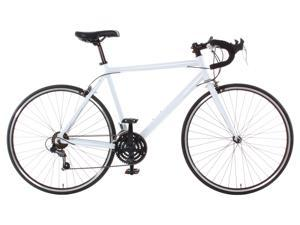 Aluminum Road Bike Commuter Bike Shimano 21 Speed 700c, Medium (54cm) - White