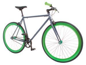 Vilano Rampage Fixed Gear Bike Fixie Single Speed Road Bike Grey / Green Large 58cm