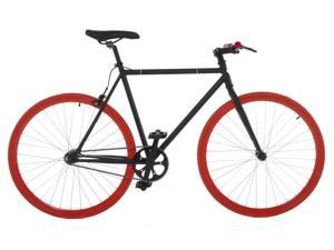 Vilano Fixed Gear Bike Fixie Single Speed Road Bike (50 cm) - Black/Red