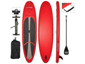 """Vilano Voyager 11' (6"""" Thick) Inflatable SUP Stand Up Paddle Board Package"""