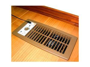 Flush Mount Heating and Air Conditioning Booster Fan, Brown