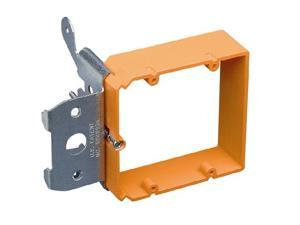 Double Gang Nail-On Adjustable Low-Voltage Bracket