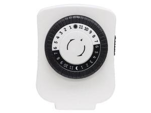 24Hr Mechanical Timer 1 Outlet Polarized Wht JASCO Timers 6668 043180151193