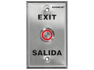 """SECO-LARM Enforcer Single Gang Request-to-Exit Plate with 1"""" Illuminated Red/Gre"""
