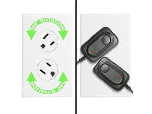 360 Electrical Rotating Duplex Outlet, 15A, White (36010-W)