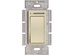 GE 18024 3-Way Rocker-Style Dimmer Switch with Slide Control - Ivory