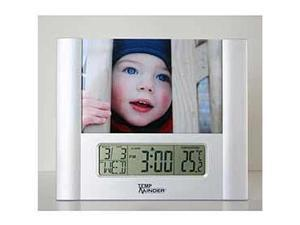 Minder Research MRI-125AG LCD Thermometer and Clock with Photo