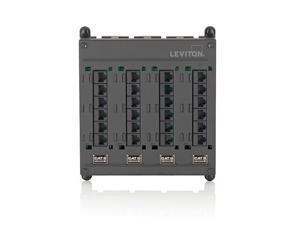 Leviton 476TM-624 Twist & Mount Patch Panel, 24 Cat6 Ports