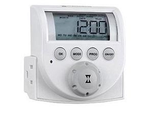 Intermatic DT620 Heavy Duty Indoor Digital Appliance Timer, Dual Receptacle