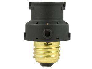 GE 18256 Indoor Light-Sensing Screw-In Socket Adapter, 150 Watts, Black
