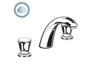 American Standard 1340.825.002 Metering Widespread Faucet with Water Conserving Aerator, Polished Ch