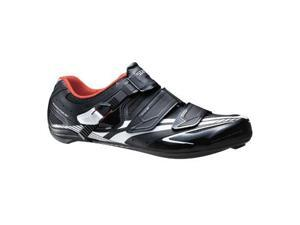 Shimano 2014 Men's Full-Featured Light Weight Performance Road Cycling Shoes - SH-R170 (Black - 43)