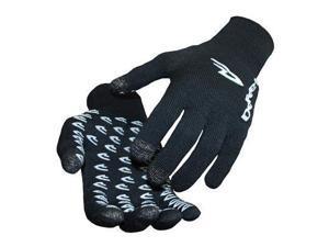 DeFeet DuraGlove ET Cycling/Running/Training Gloves - GLVET (Black ET - L)