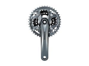 Shimano Alivio 9-Speed Mountain Bicycle Crank Set - FC-M4000 (Silver - 165MM, 40X30X22T, w/Chain Guard)