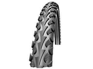 Schwalbe Land Cruiser HS 307 Cruiser Bicycle Tire - Wire Bead - Black (Black - 26 x 1.75)