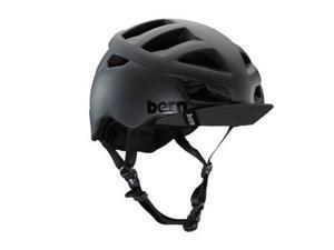 Bern 2013 Men's Allston Summer Bike Helmet (Matte Black w/ Visor - XXL)