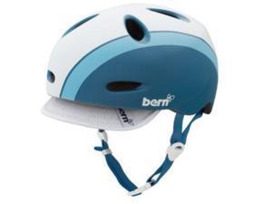 Bern 2012 Women's Berkeley Bomber Summer Bike Helmet (Matte Atlantic Blue Bomber w/ Visor - XS)