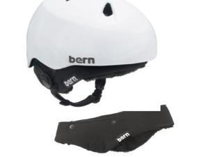 Bern 2016 Junior Nina/Nino Fleece Winter Helmet Upgrade Kit (Black Fleece - XS/S)