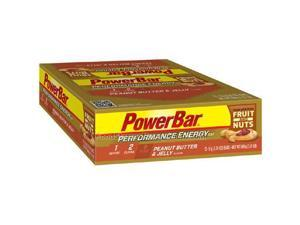 PowerBar Performance Energy Bar with C2 MAX - Box of 12 (Fruit & Nut Peanut Butter & Jelly)