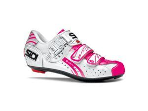 Sidi 2015 Women's Genius 5 Fit Carbon Road Cycling Shoes - White/Pink Fluorescent - SRS-GFW-WHFP (White/Pink Fluorescent