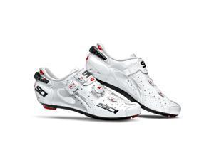 Sidi 2015 Men's Wire Vent Carbon Push Road Cycling Shoes - White - SRS-WVC-WHWH (White - 40.0)