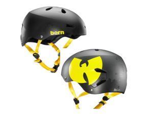 Bern 2015 Men's Macon EPS Wutang Summer Bike/Skate Helmet (Wutang Matte Black - L)