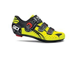 Sidi 2015 Men's Genius 5 Fit Carbon Road Cycling Shoes - Black/Yellow Fluorescent - 14105124 (Black/Yellow Fluorescent -