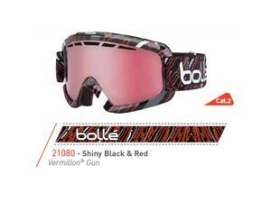 Bolle 2015 Nova II Ski Goggles - Vermillon Gun Lens (Shiny Black and Red - Vermillon Gun)