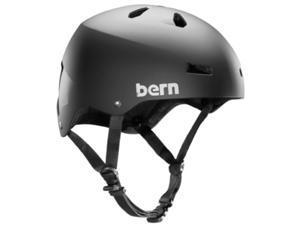 Bern 2015 Men's Macon EPS Summer Bike/Skate Helmet - w/Crank Fit (Matte Black - L/XL)