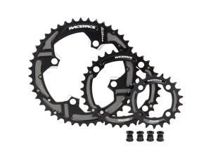 Race Face 4-Bolt Turbine 9 Speed Bicycle Chainring Set (Black - 22/32/44T)