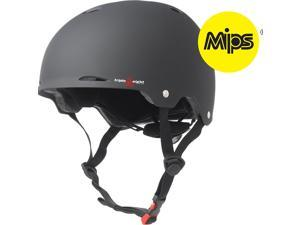 Triple Eight Gotham Dual Certified Bicycle/Skate Helmet with MIPS (Black Rubber - XS/S)