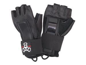 Triple Eight Hired Hands Protective Skate Gloves (Black - S)