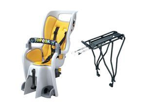 Topeak Baby Seat II 26in Disc Rack Bicycle Baby Seat (Yellow Padding)