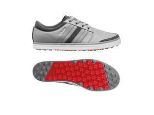 Adidas 2015 Men's adicross Gripmore Golf Shoes - Q47005 (Aluminum/Running White/Light Scarlet - 9.5)