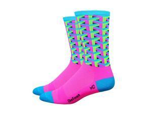 DeFeet AirEator 6in Framework Cycling/Running Socks (Framework Pink - M)