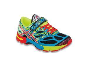 Asics 2015 Kid's Gel-Noosa Tri 10 PS Running Shoes - C525N.9028 (Black/Red Pepper/Flash Yellow - 12K)