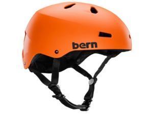 Bern 2015 Men's Macon EPS Summer Bike/Skate Helmet - w/Crank Fit (Matte Orange - XXL/XXXL)