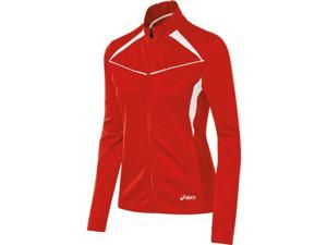 Asics 2016 Girls Jr. Cali Warm Up Jacket - YT2694 (Red/White - M)